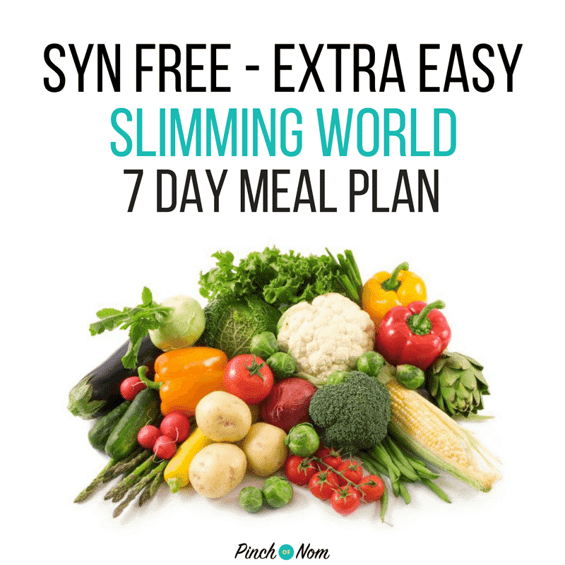 Syn Free 7 Day Slimming World Meal Plans Pinch Of Nom