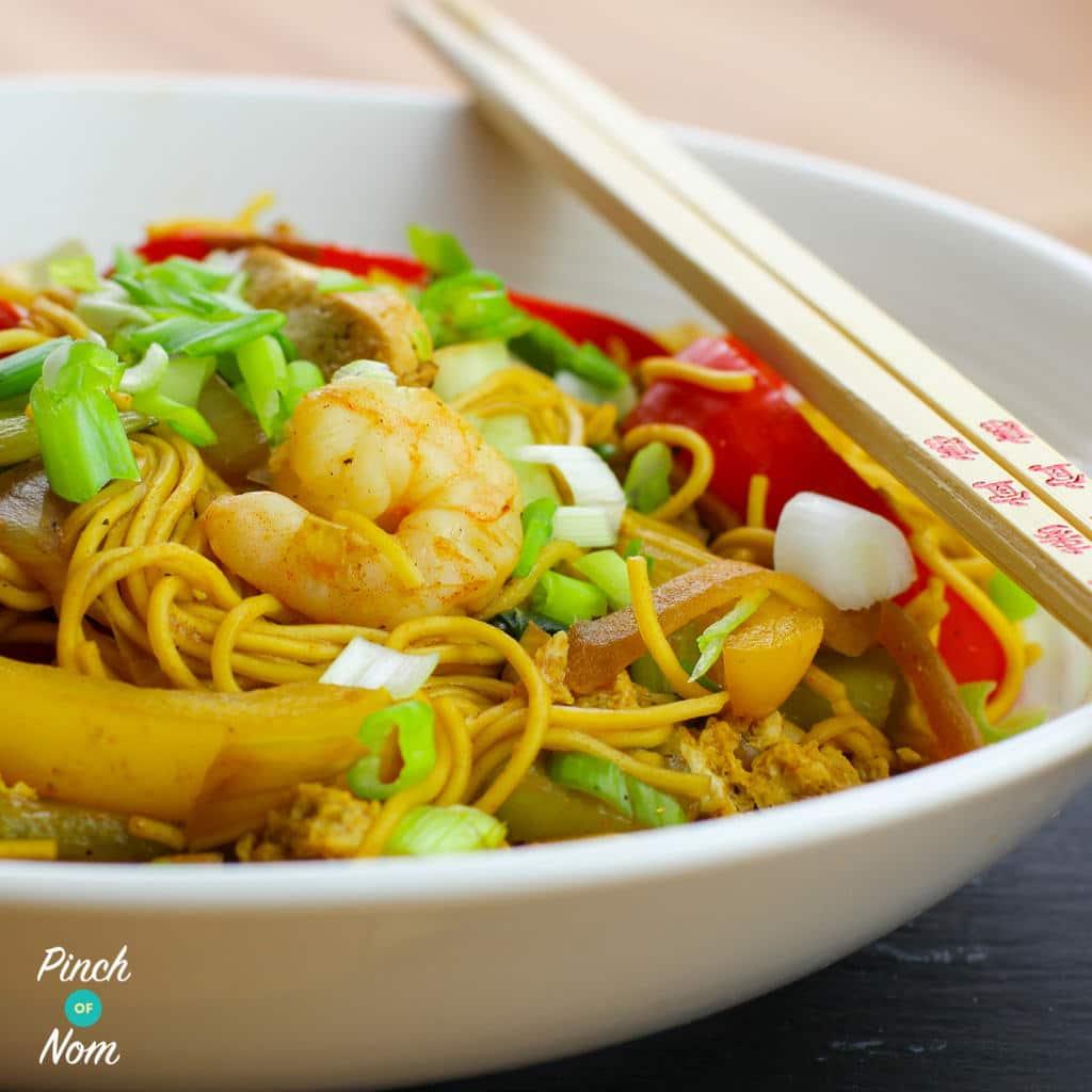 Speedy Singapore Noodles pinchofnom.com