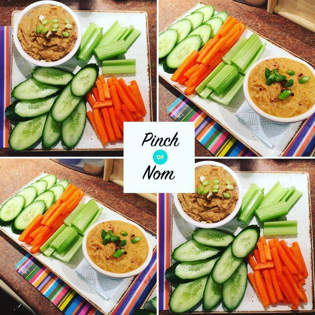 Sweet Chilli Hummus - Pinch of Nom Slimming Recipes