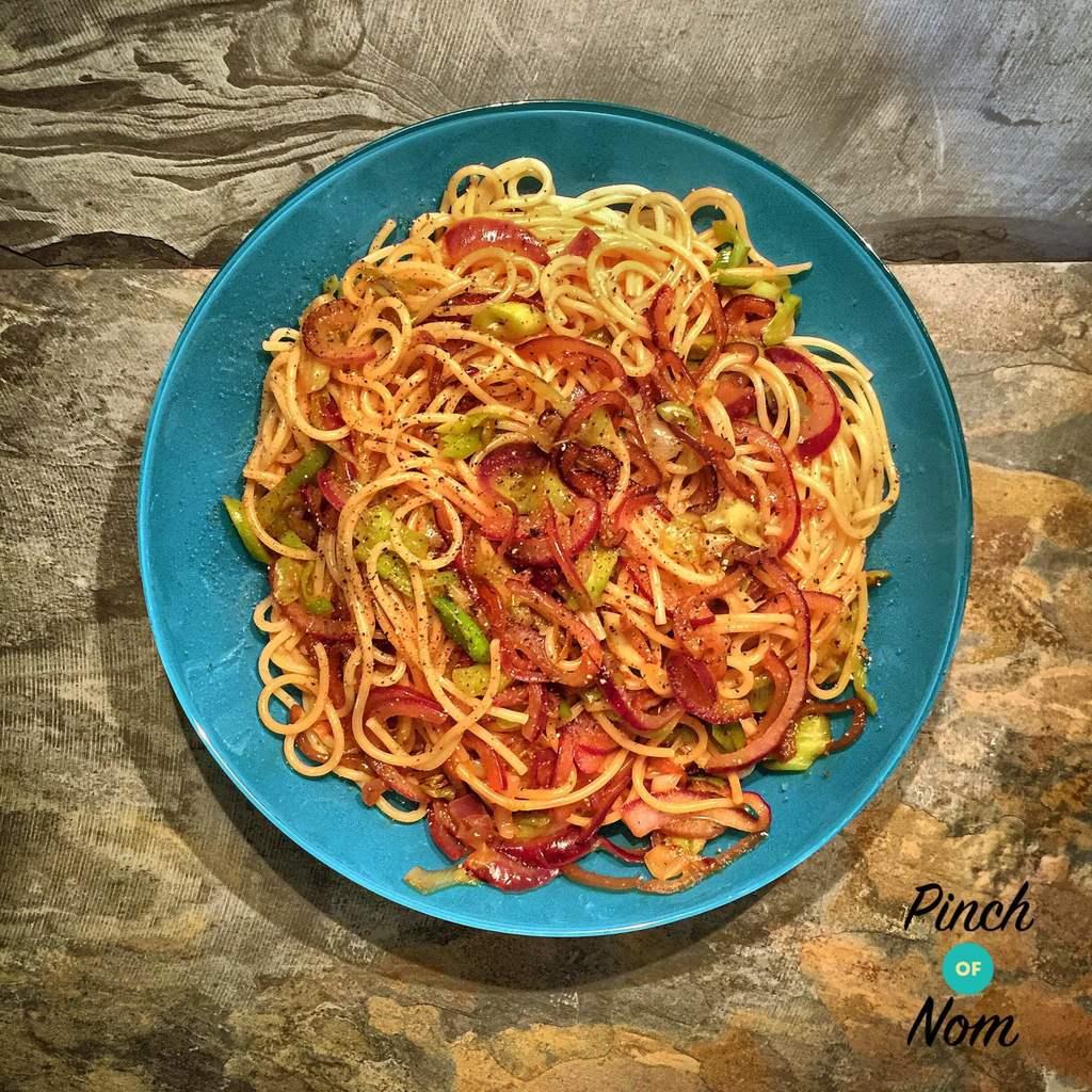 Marmite Pasta - Pinch of Nom Slimming Recipes