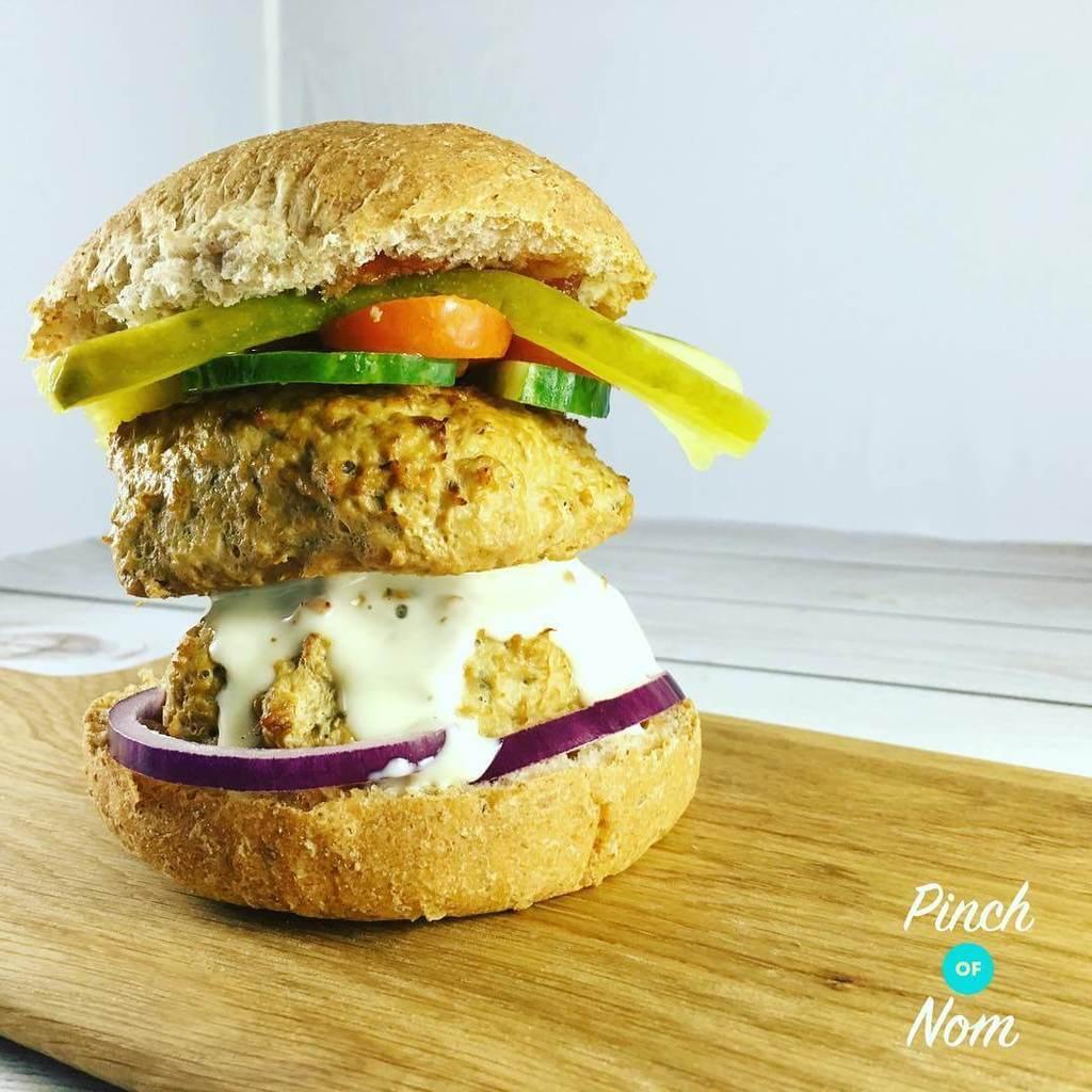 Turkey Burgers pinchofnom.com