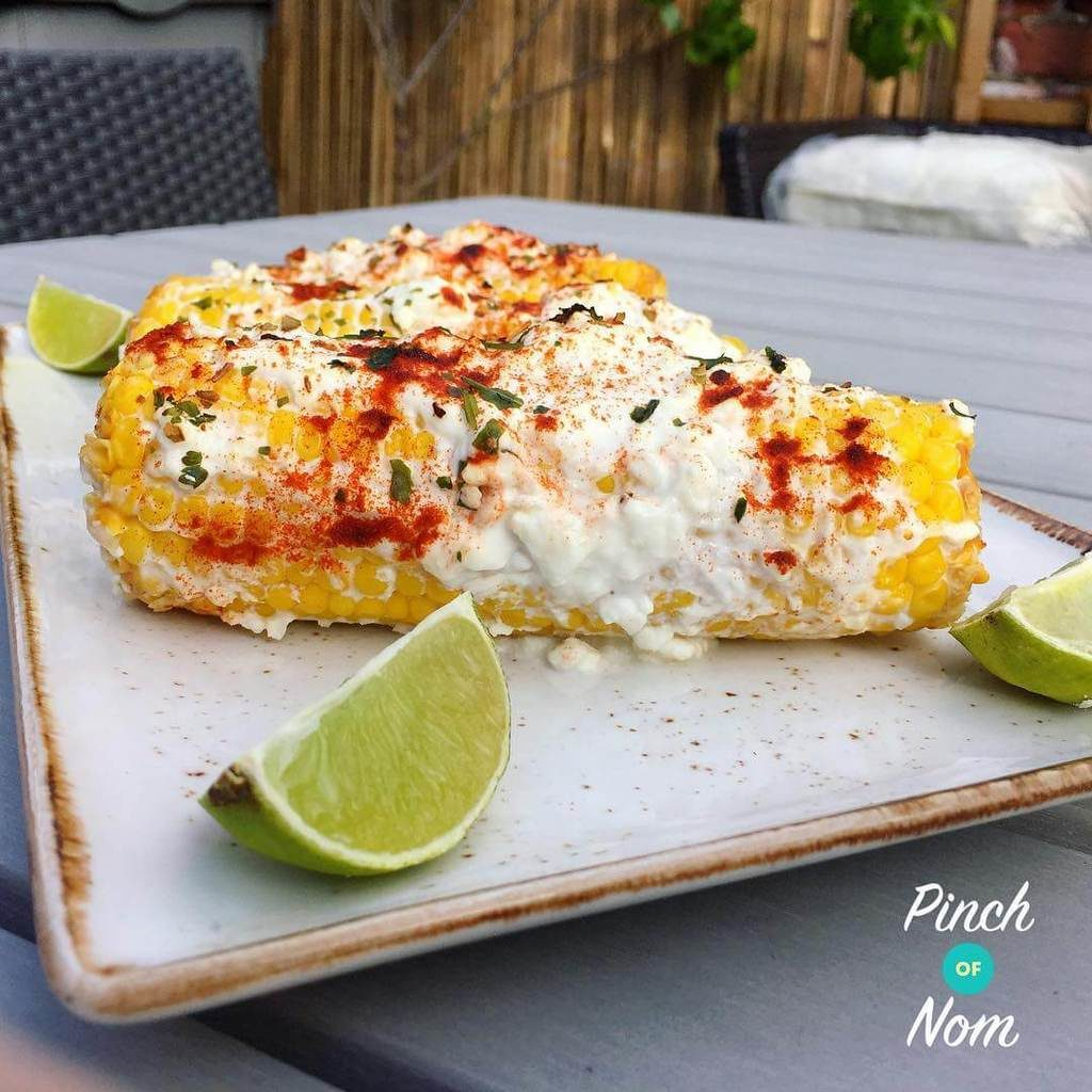 Mexican Corn on the Cob - Pinch of Nom Slimming Recipes