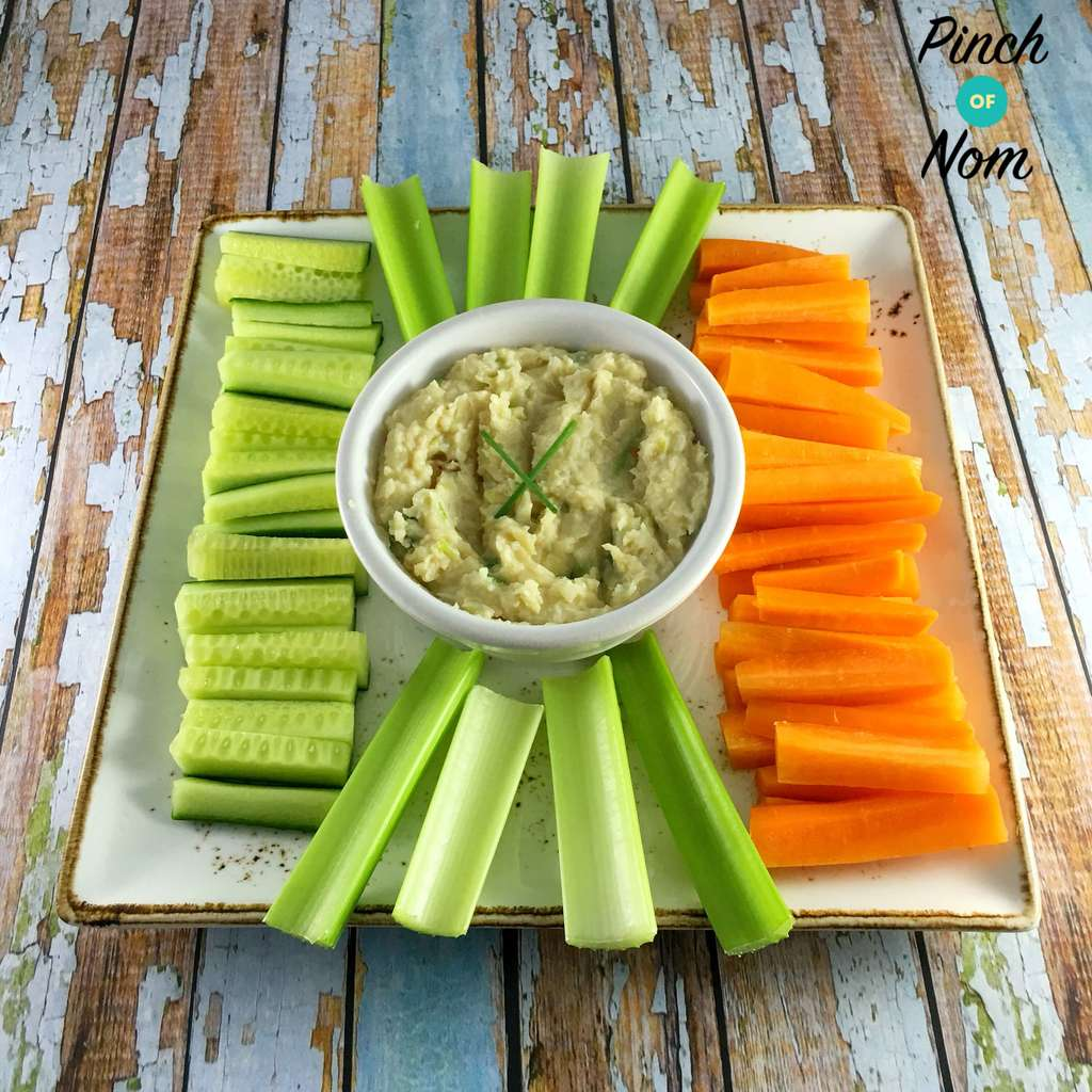 Butter Bean and Garlic Dip - Pinch of Nom Slimming Recipes