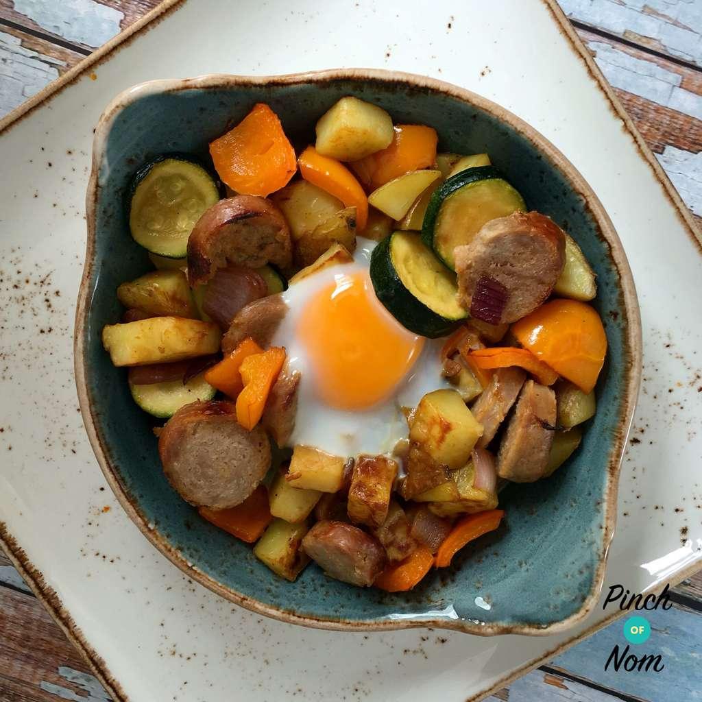 Sausage Hash pinchofnom.com