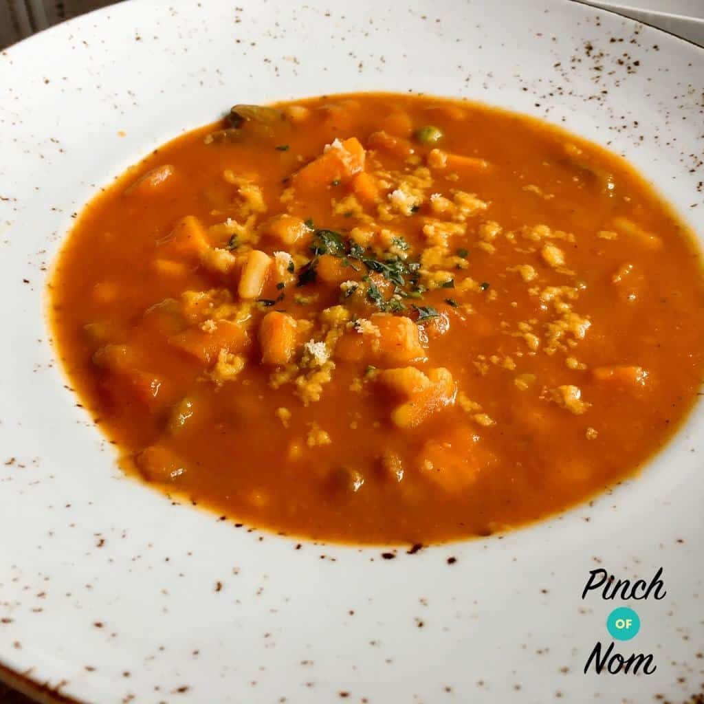 Minestrone Soup - Pinch of Nom Slimming Recipes