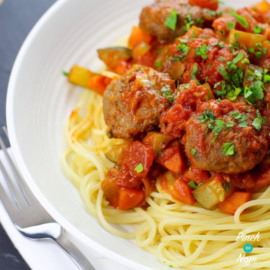 Meatball Marinara pinchofnom.com