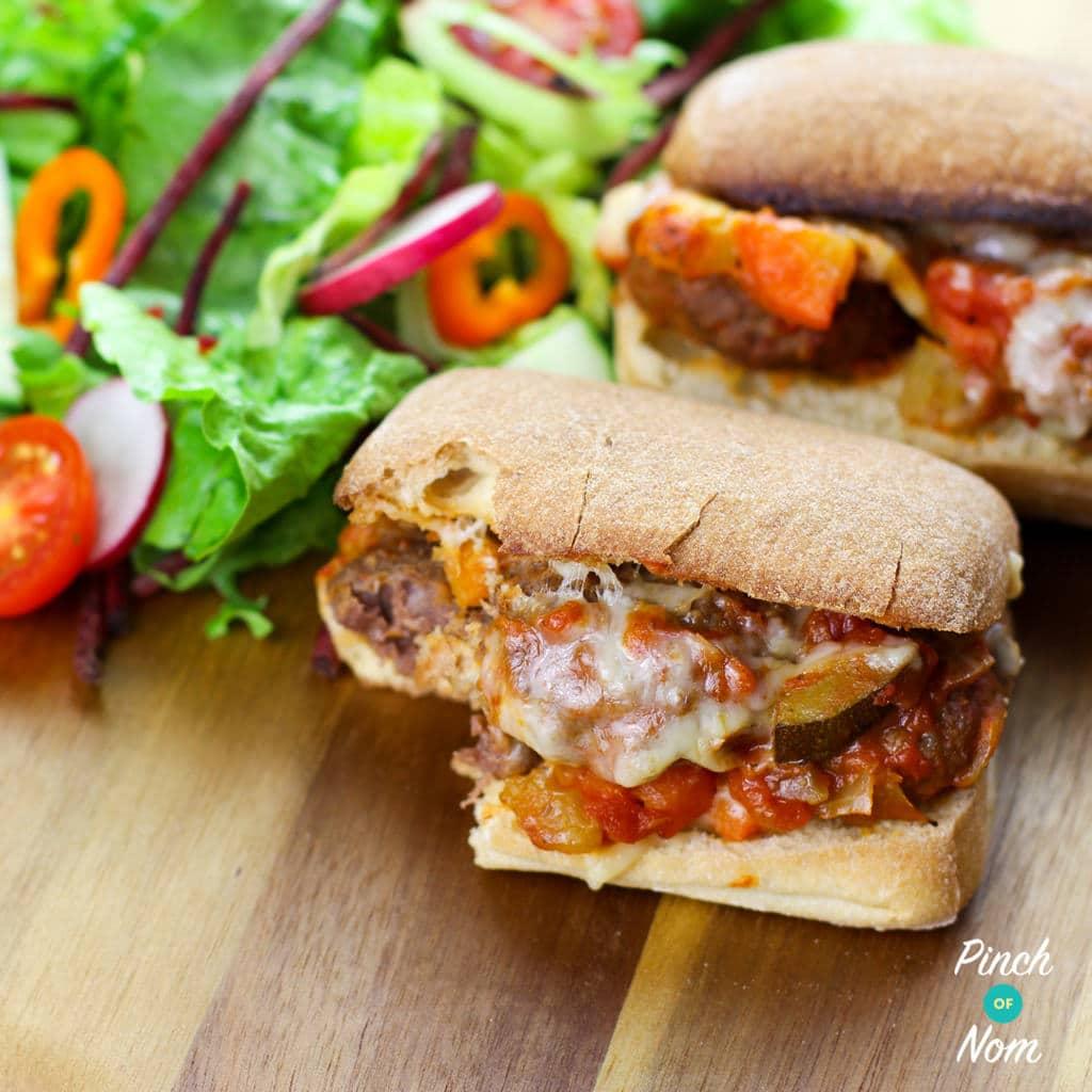 Meatball Marinara Slider - Pinch of Nom Slimming Recipes