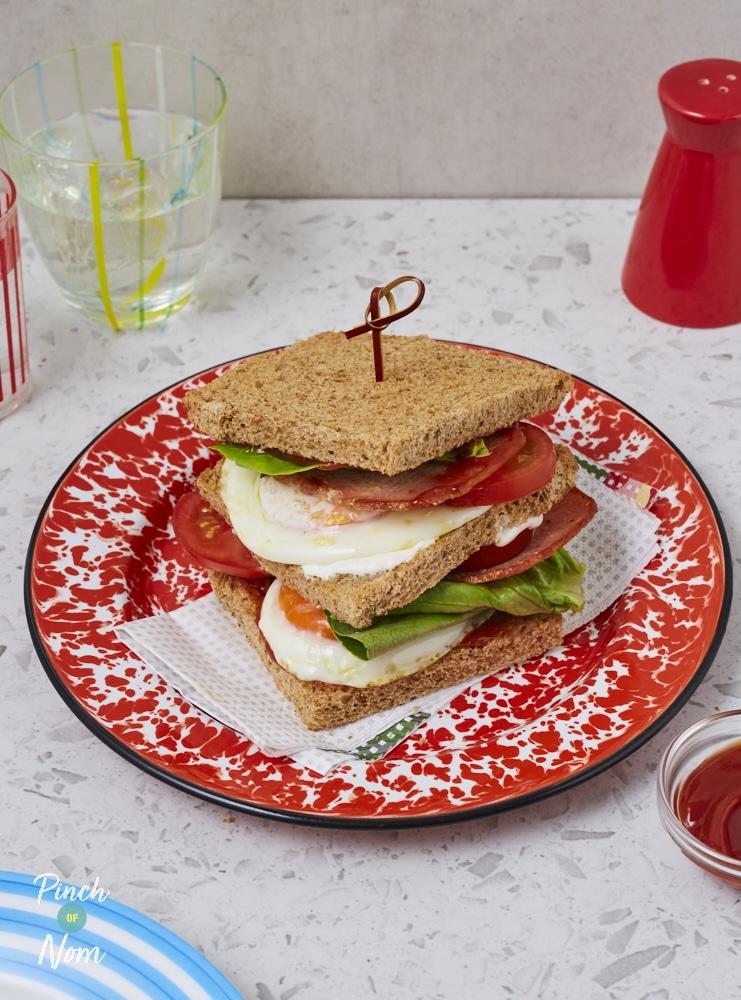 BLT Sandwich - Pinch of Nom Slimming Recipes