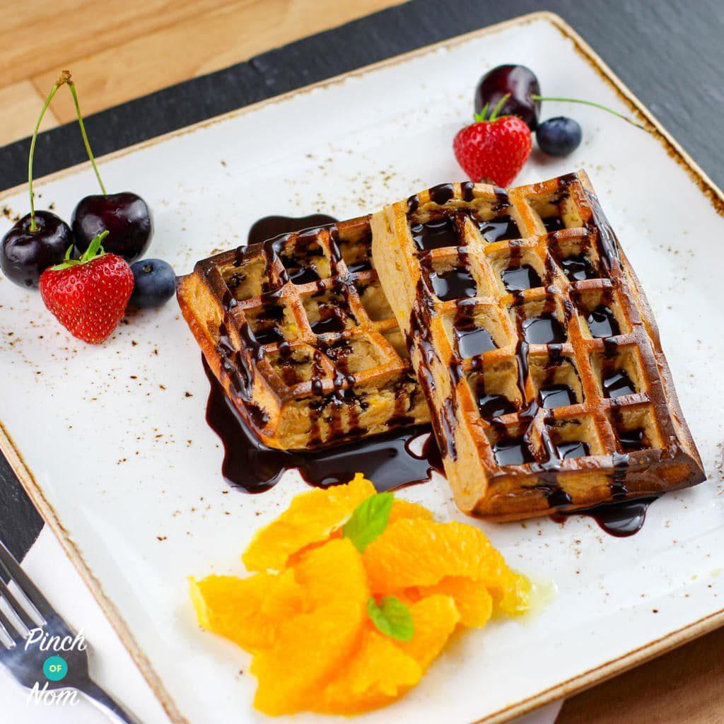 Chocolate Orange Waffles - Pinch of Nom Slimming Recipes