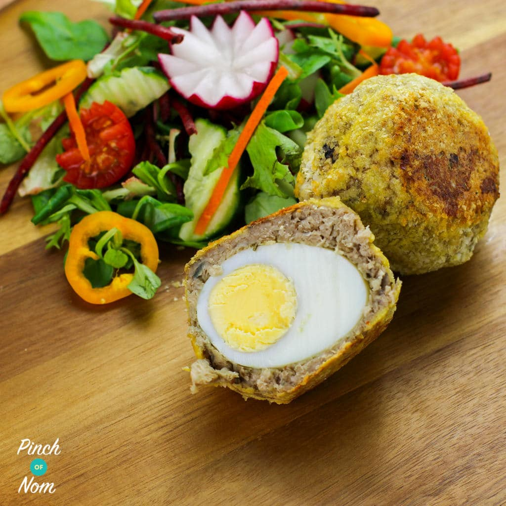 Vegetarian Scotch Eggs - Pinch of Nom Slimming Recipes
