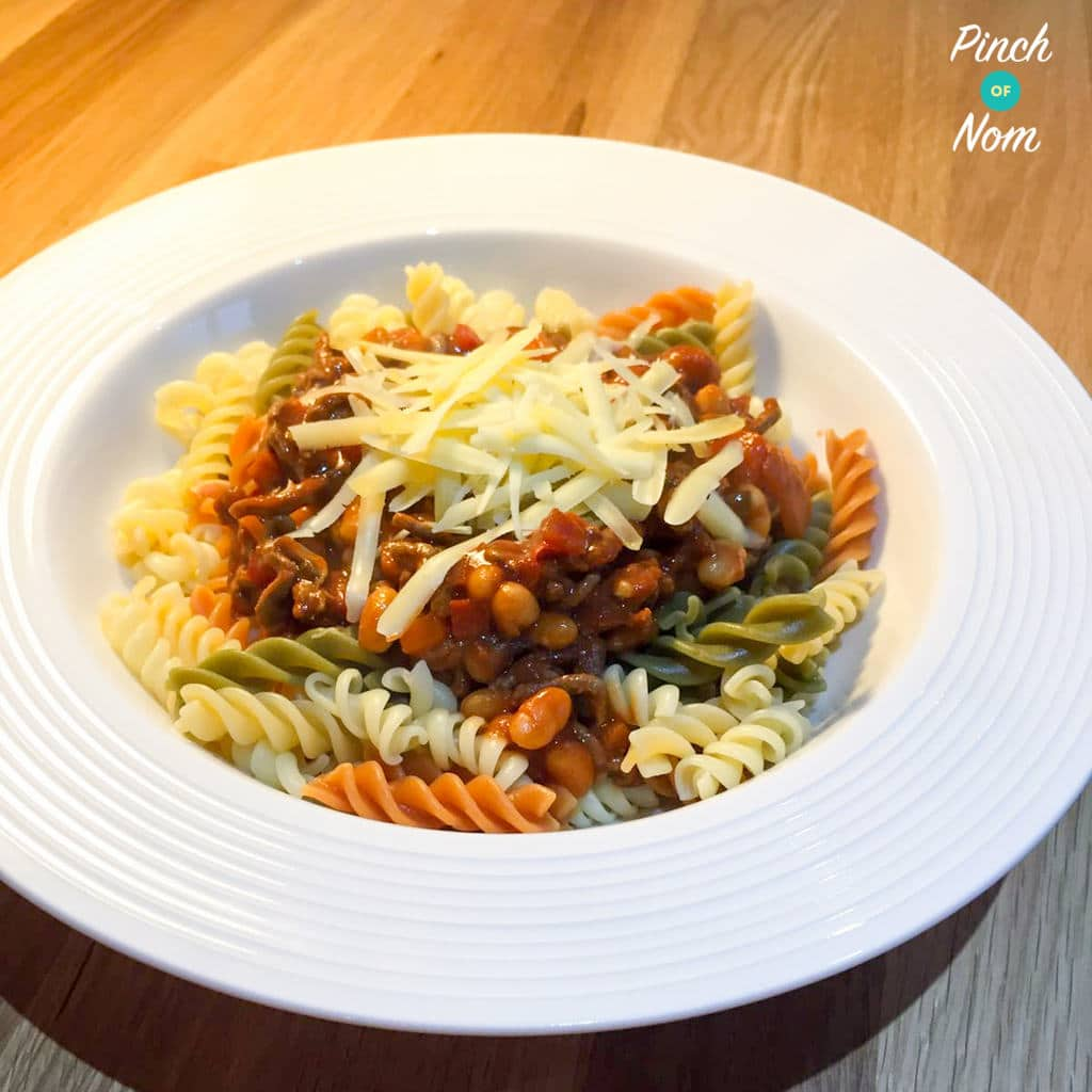 Syn Free Baked Bean Bolognese | Slimming World - Pinch Of Nom