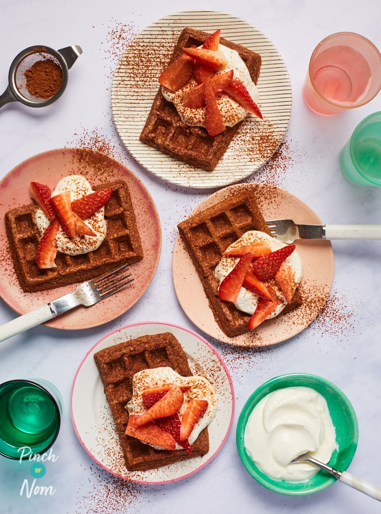 Chocolate Waffles - Pinch of Nom Slimming Recipes