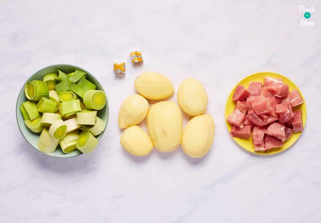 Ham, Leek and Potato Soup - Pinch of Nom Slimming Recipes