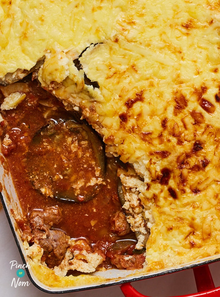 Lamb Moussaka - Pinch of Nom Slimming Recipes