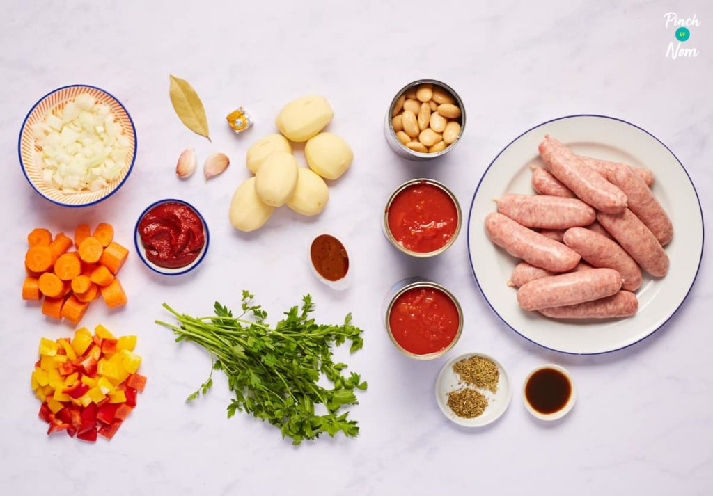 Sausage Casserole - Pinch of Nom Slimming Recipes