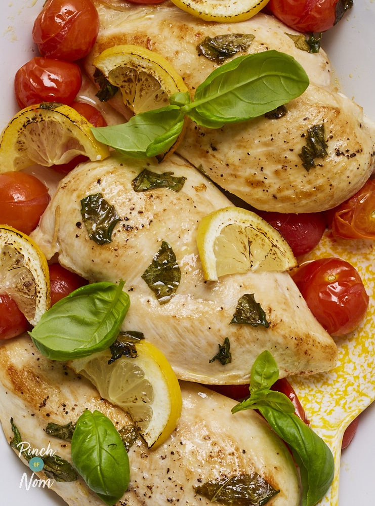 Tomato and Basil Chicken - Pinch of Nom Slimming Recipes