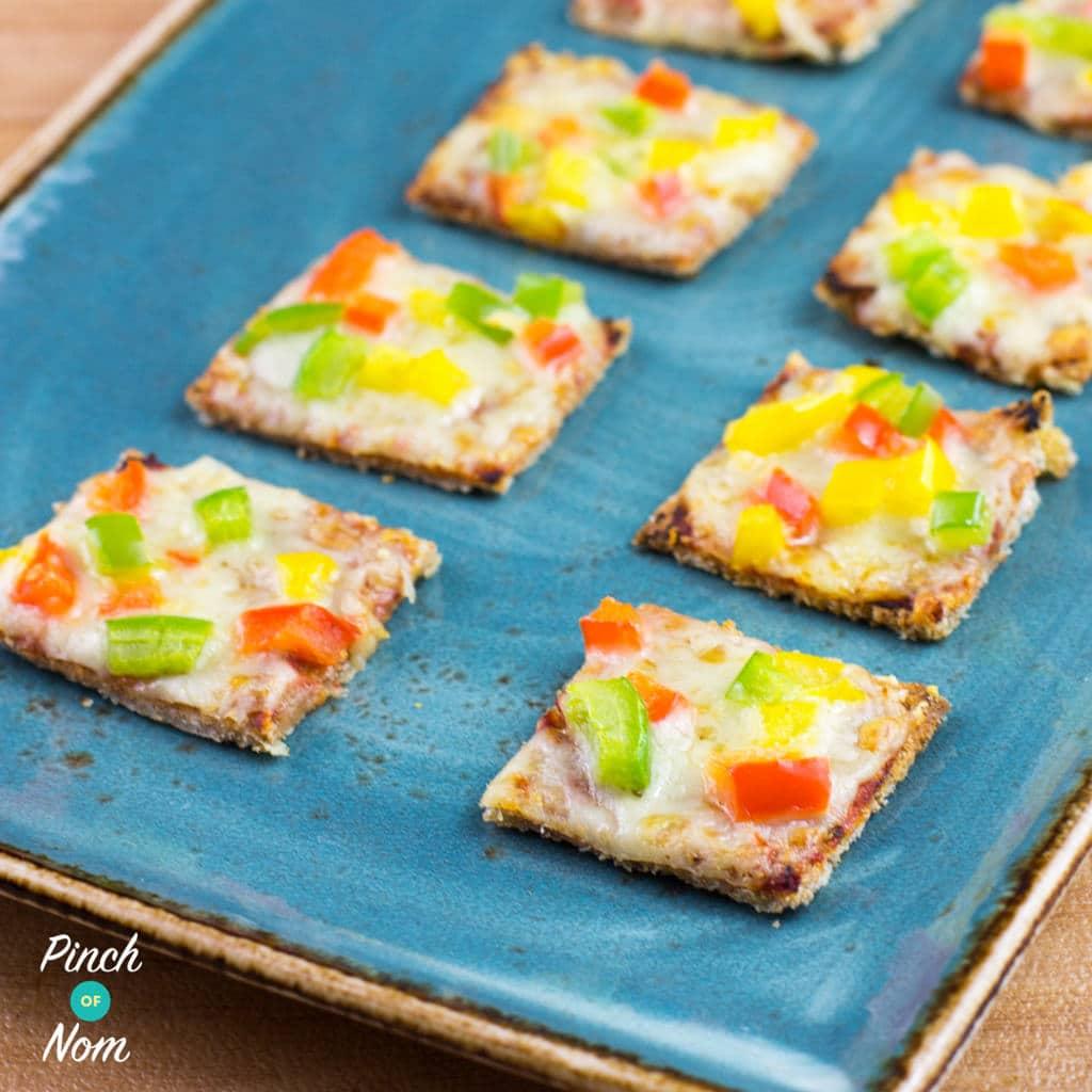 Mini Pizza Bites pinchofnom.com