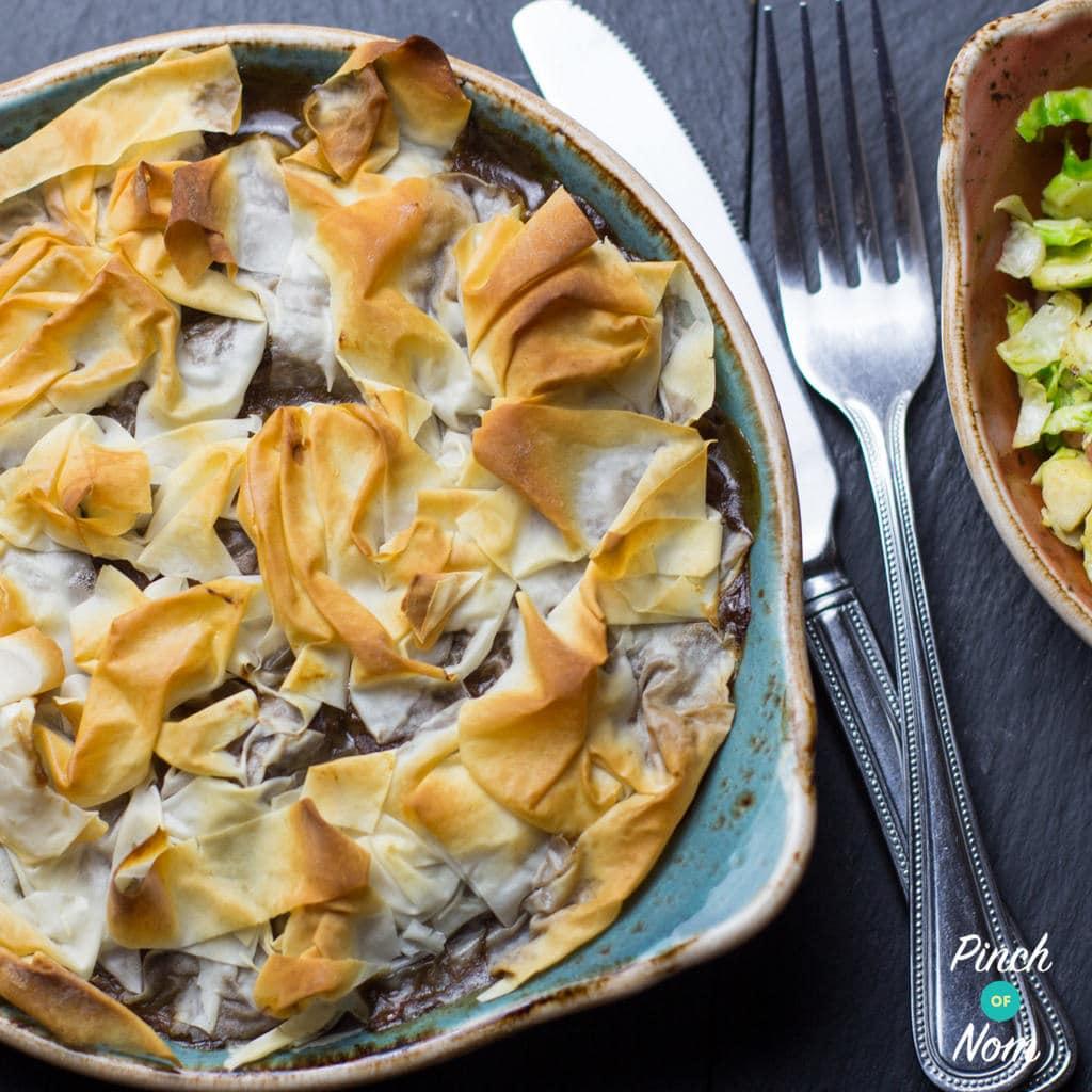Steak and Mushroom Pie - Pinch Of Nom