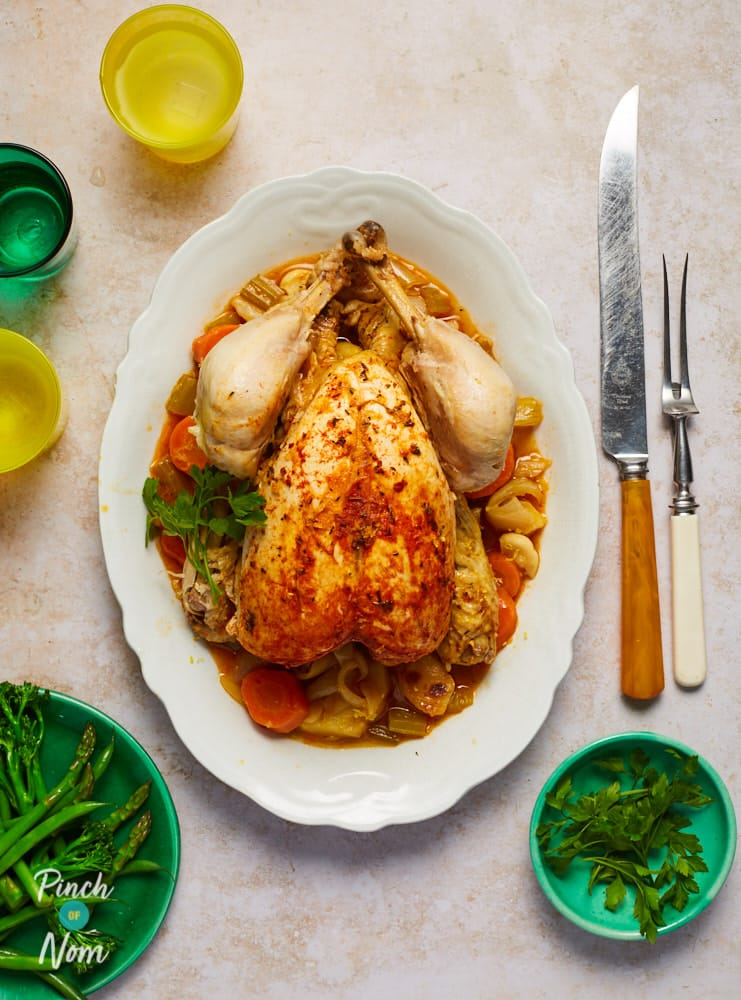 20 Minute Whole Chicken - Pinch of Nom Slimming Recipes