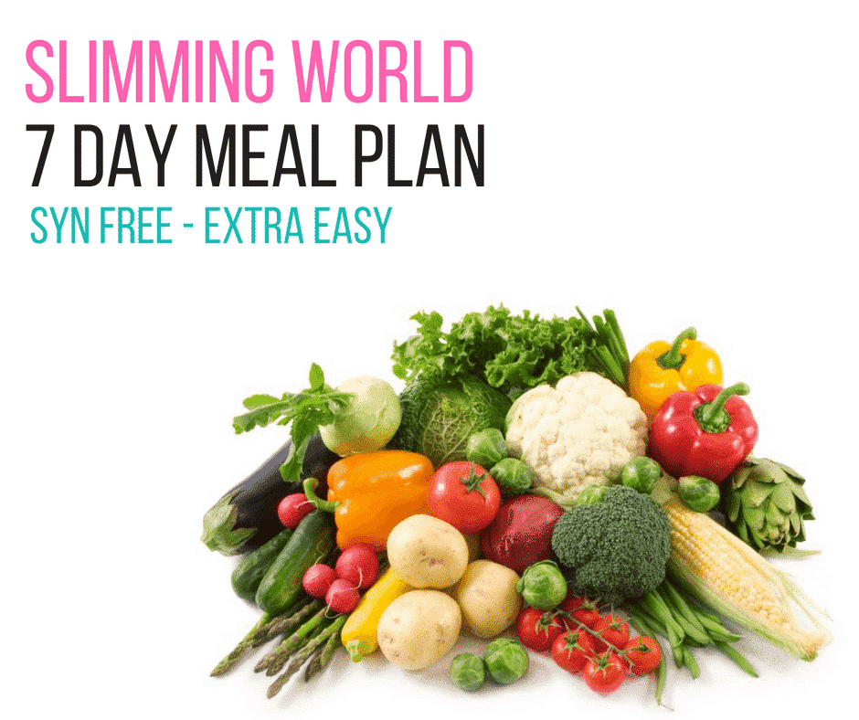 7 Day Slimming World Meal Plan Syn Free - Extra Easy ...