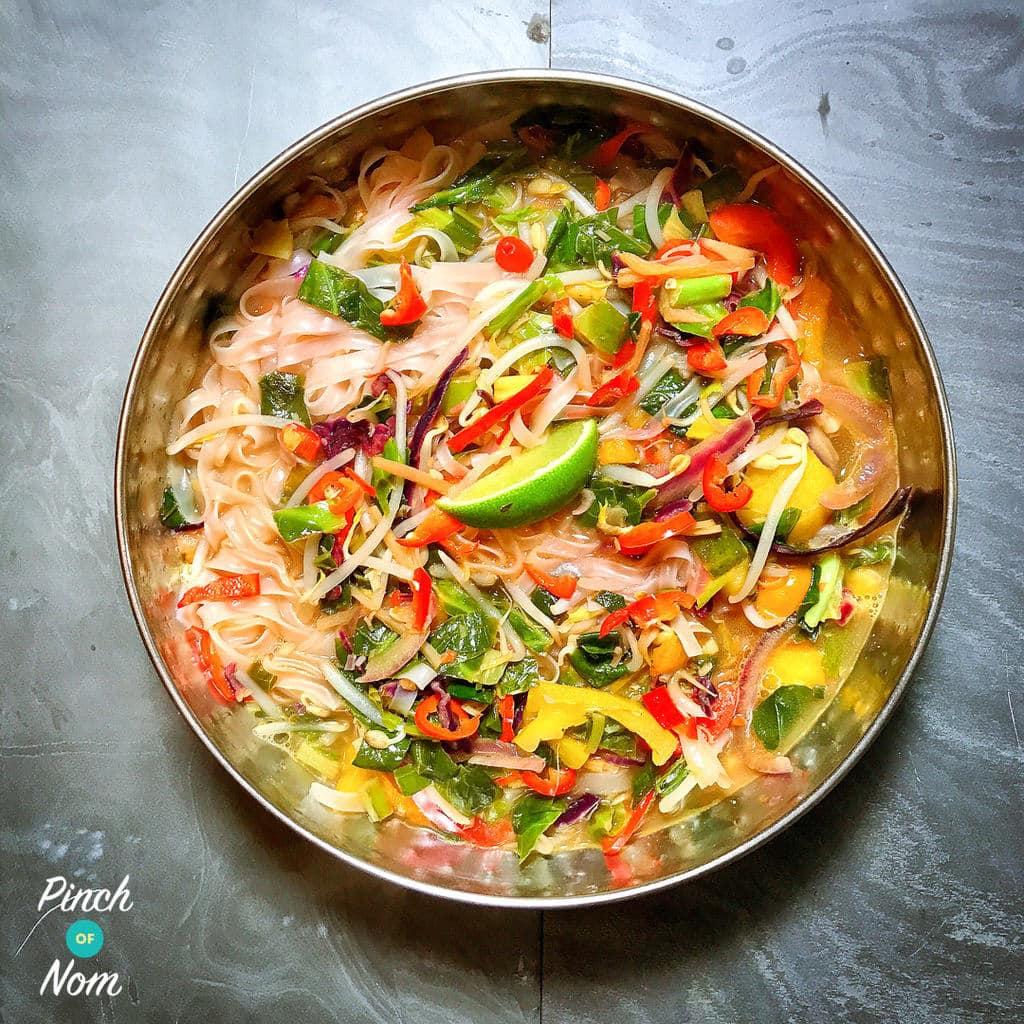 Lemongrass & Ginger Rice Noodle Soup pinchofnom.com
