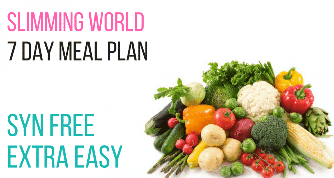 7 day slimming world meal plan syn free extra easy pinch of nom Simple slimming world meals