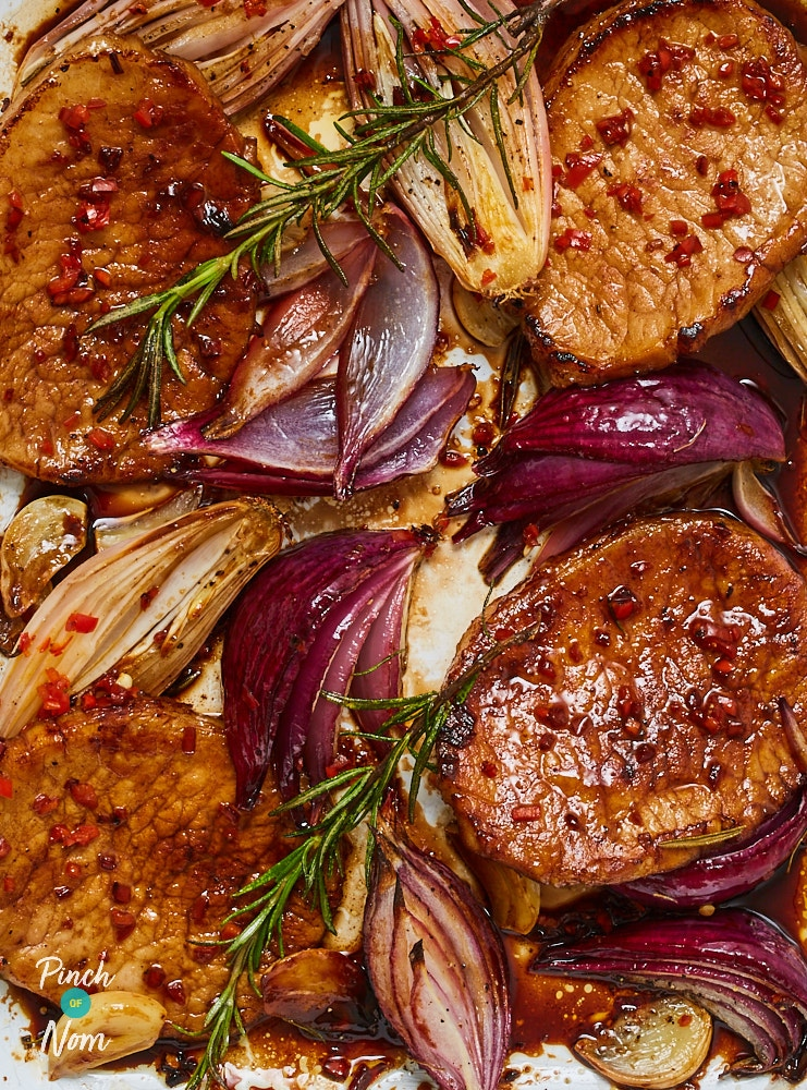 Balsamic Glazed Pork - Pinch of Nom Slimming Recipes