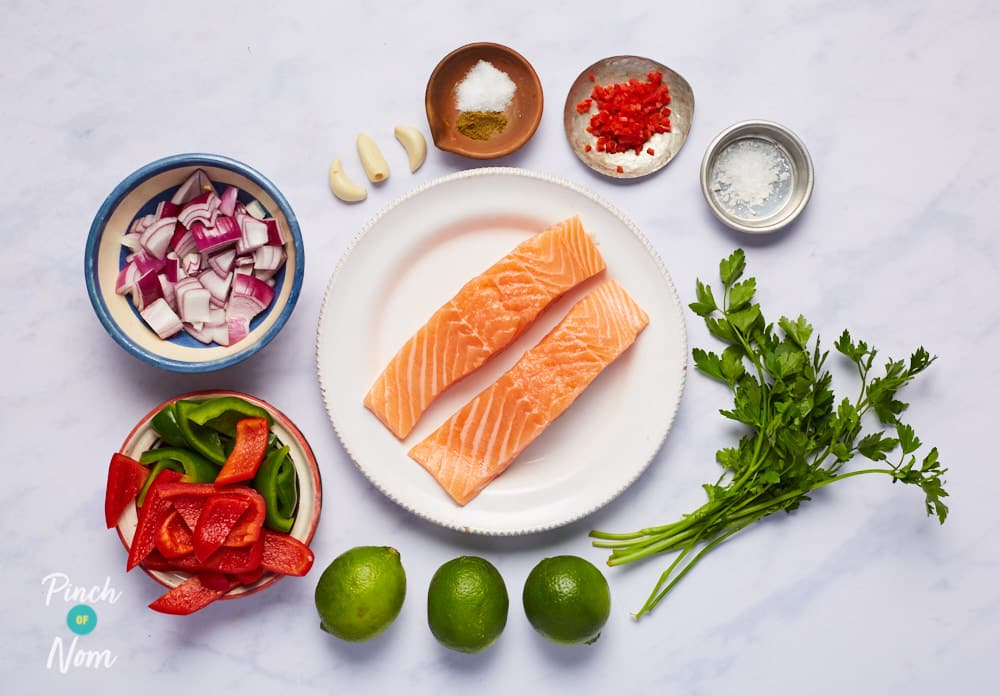 Chilli and Lime Baked Salmon - Pinch of Nom Slimming Recipes