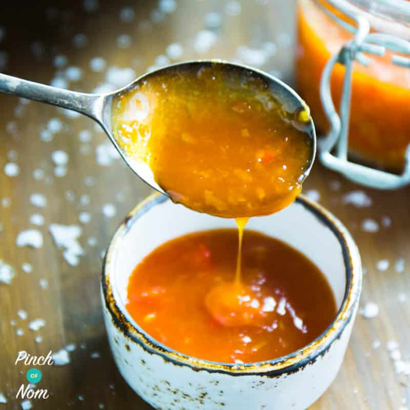 Sweet Chilli Sauce - Pinch of Nom Slimming Recipes