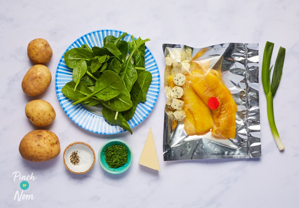 Smoked Haddock and Cheese Gratin - Pinch of Nom Slimming Recipes