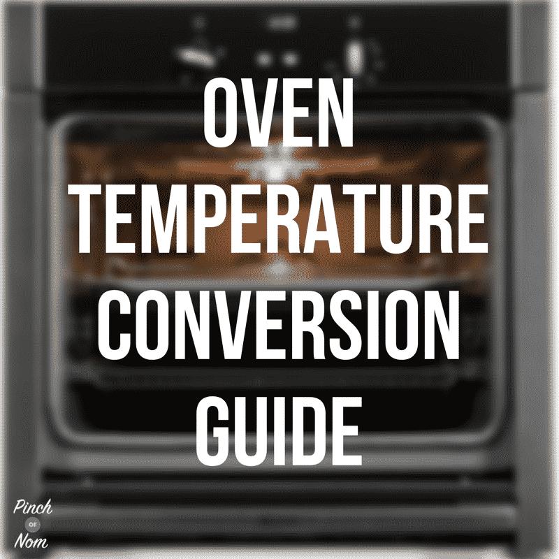 Oven temperature conversion guide