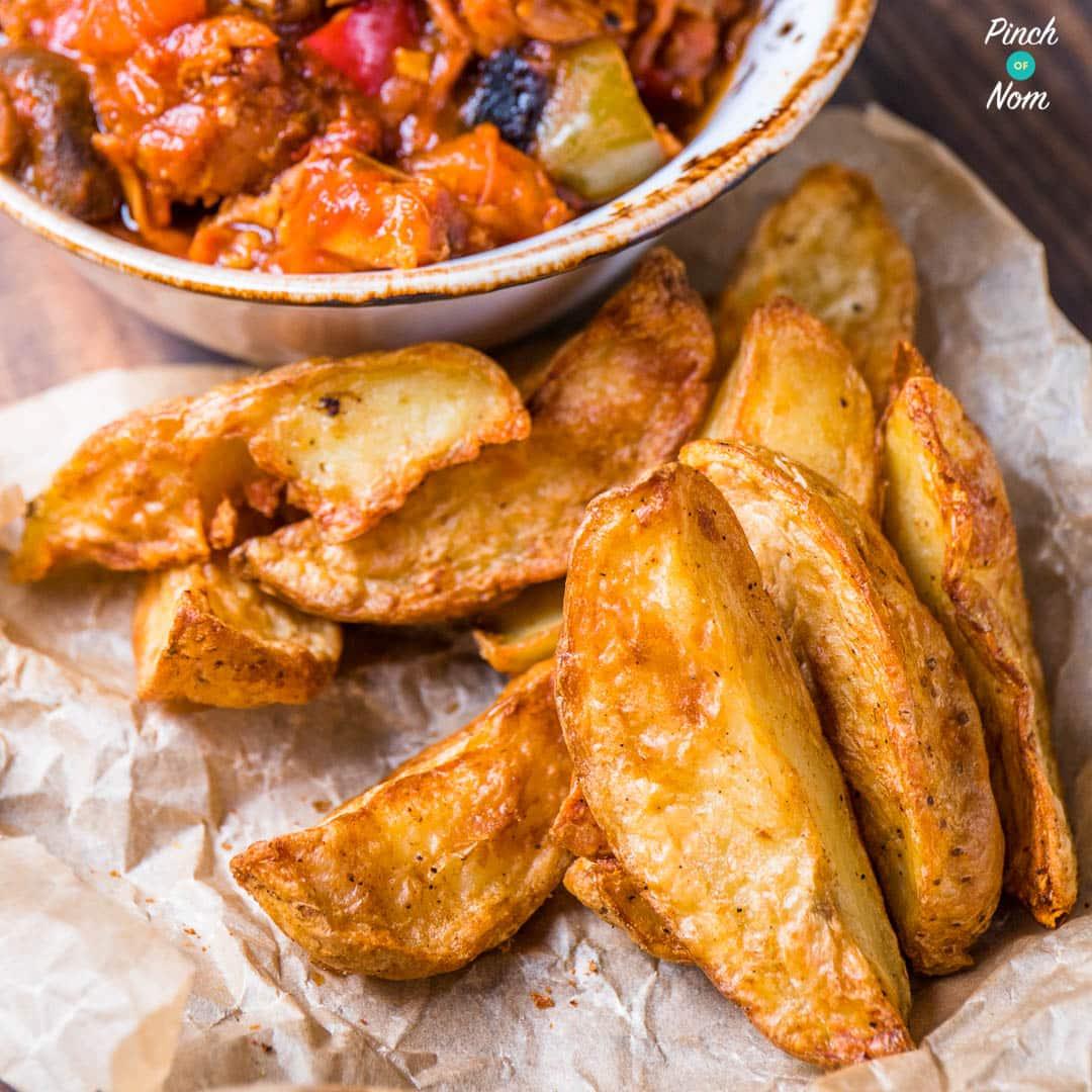 Rustic Potato Wedges - Pinch of Nom Slimming Recipes