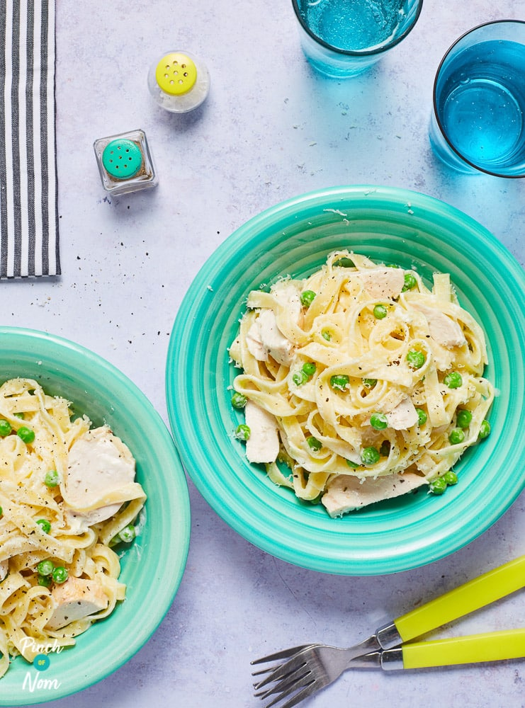 Chicken Alfredo Tagliatelle - Pinch of Nom Slimming Recipes