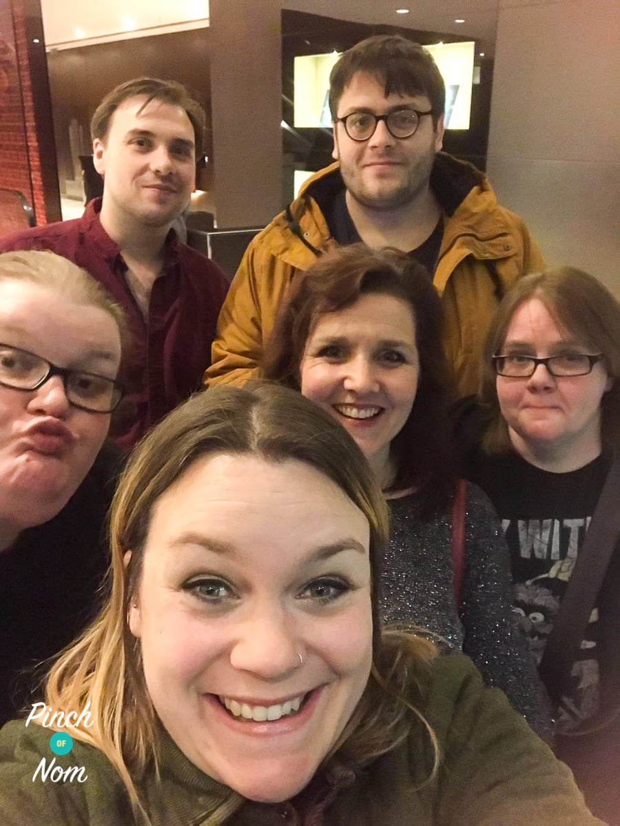 The Pinch Of Nom team enjoying a Christmas treat in London