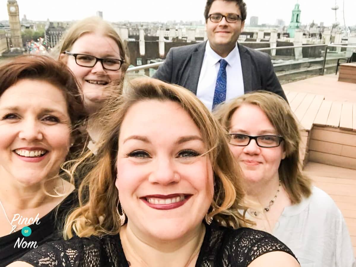 The Pinch Of Nom team in London ready for the 2017 UK Blog Awards!