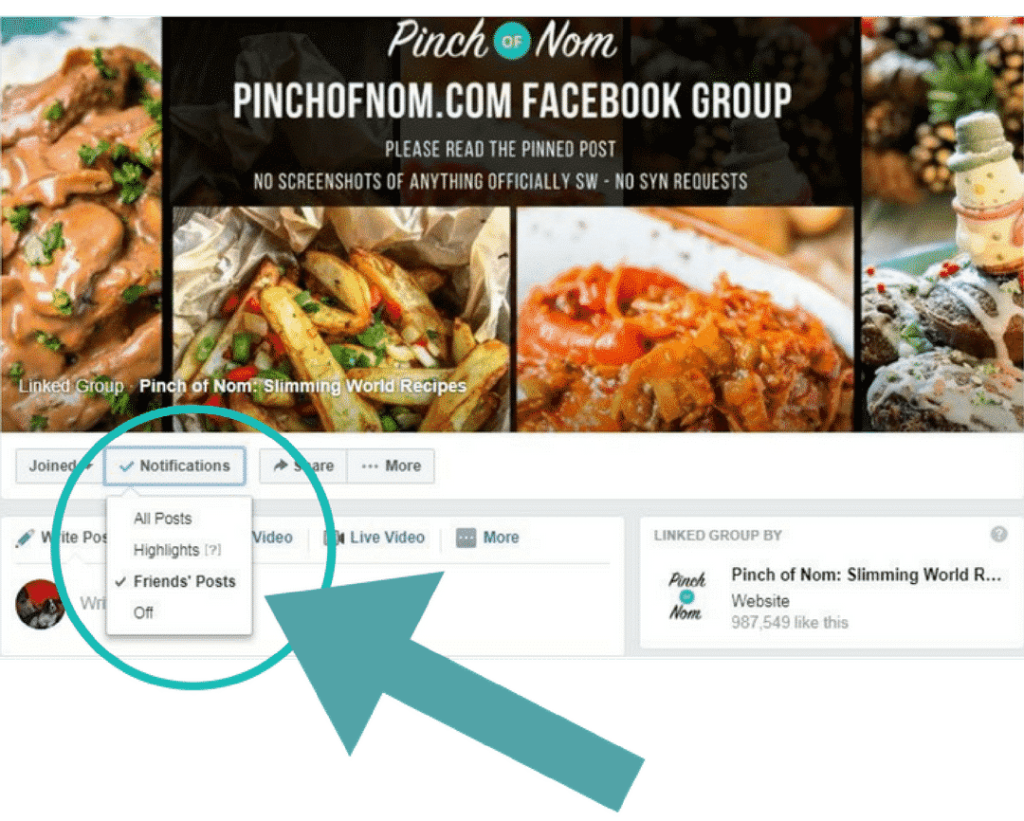 Using the Pinch of Nom Facebook Group | Slimming World