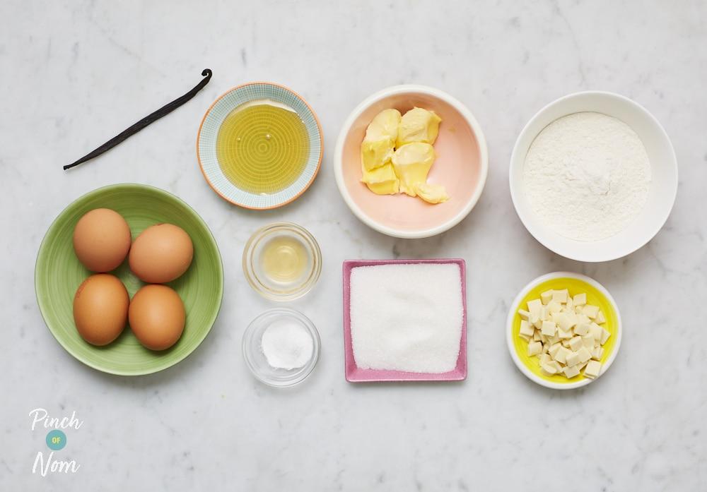 White Chocolate Blondies - Pinch of Nom Slimming Recipes
