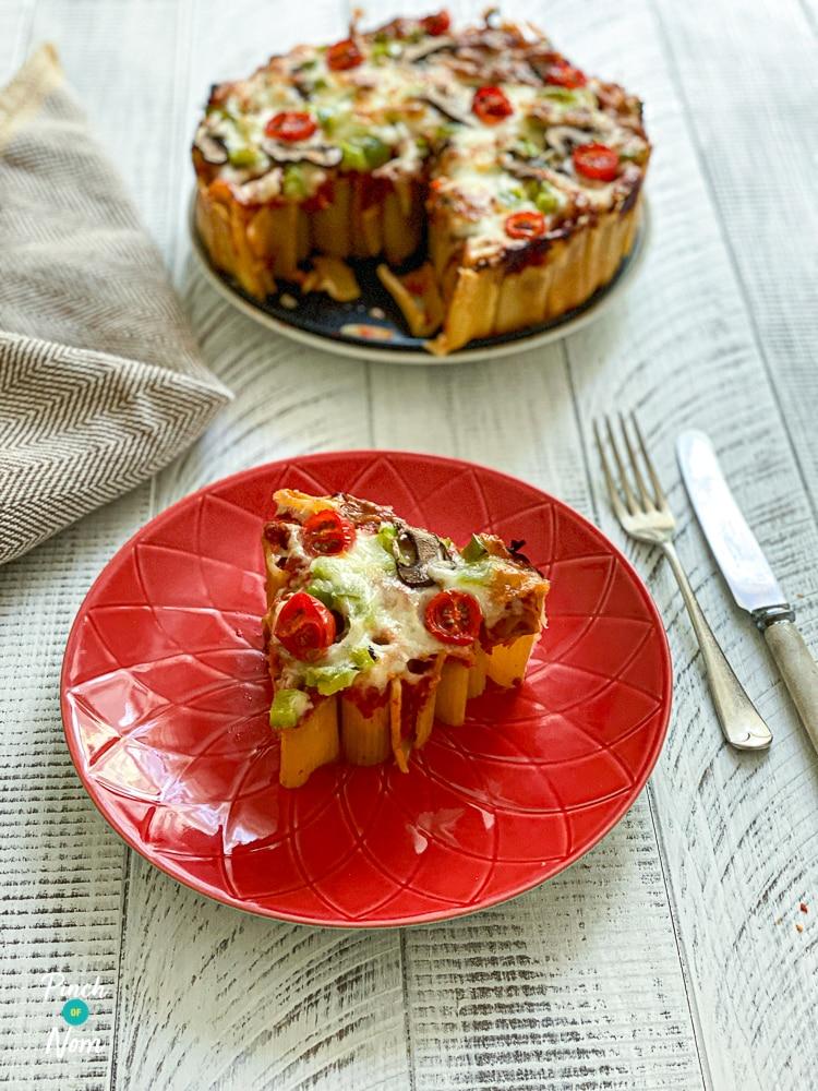 Rigatoni Pizza Pie - Pinch of Nom Slimming Recipes