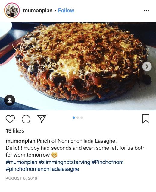 Enchilada Lasagne - Pinch of Nom Slimming Recipes