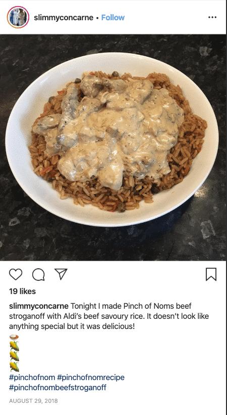 Beef Stroganoff - Pinch of Nom Slimming Recipes