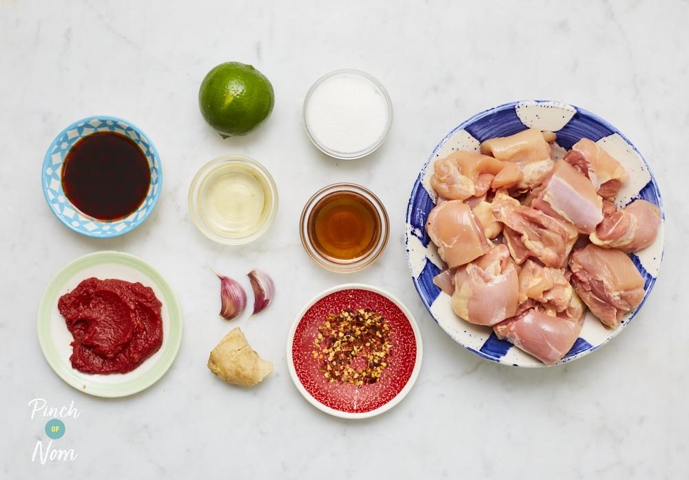 Chicken Teriyaki Kebabs - Pinch of Nom Slimming Recipes