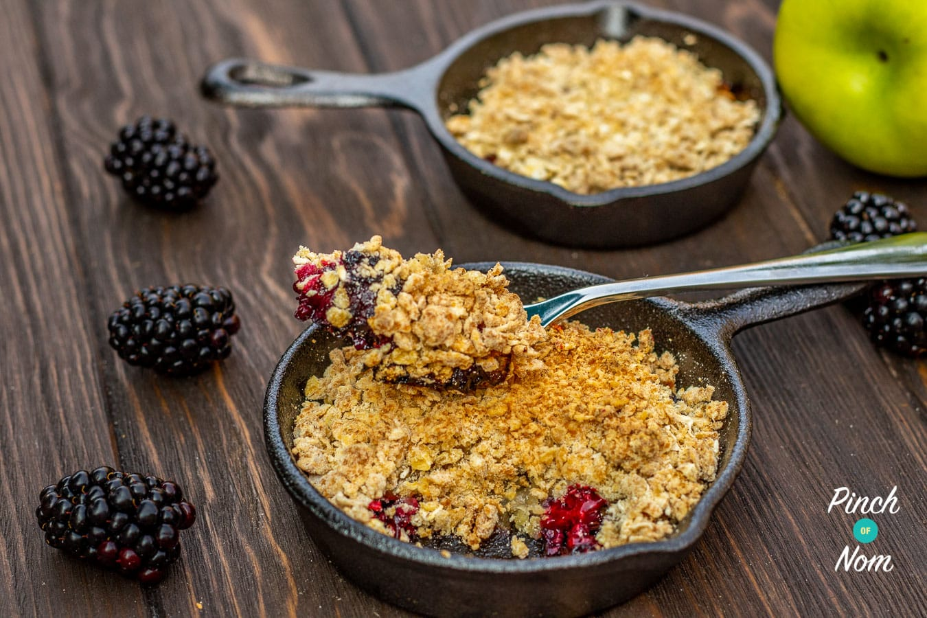 Low Syn Blackberry & Apple Crumble 4