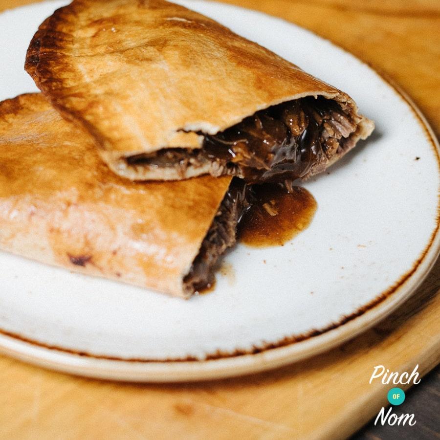 Beef & Onion Pasties pinchofnom.com