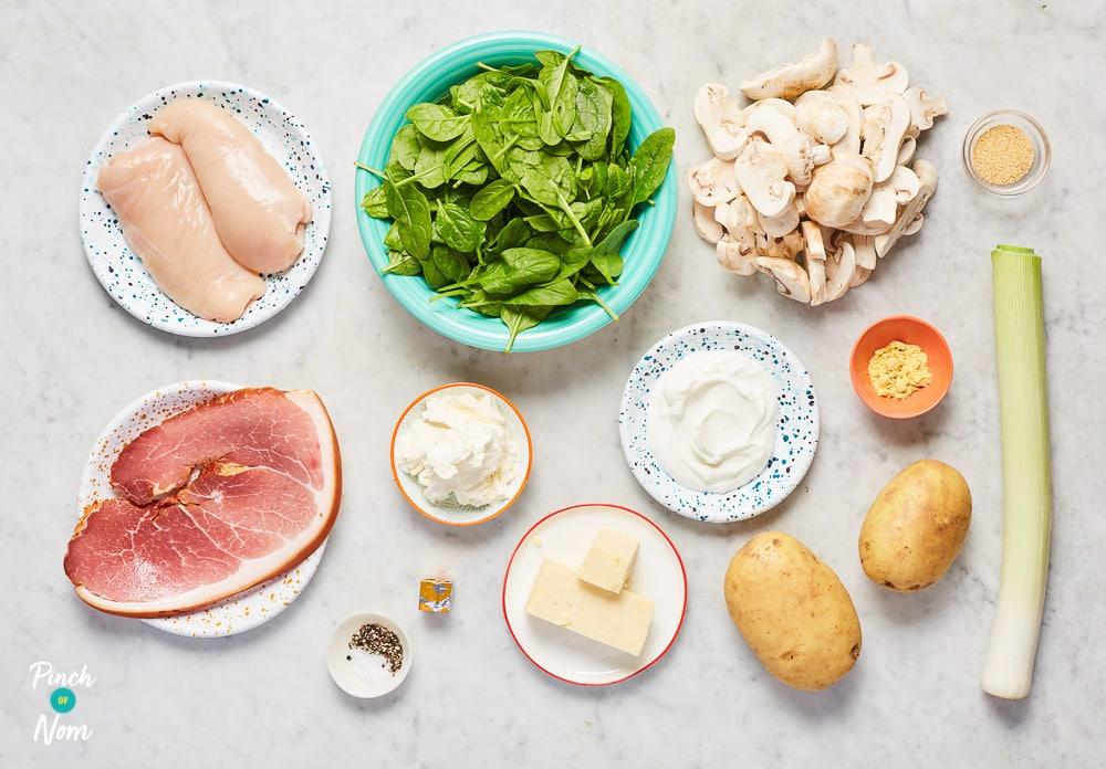 Chicken Tartiflette - Pinch of Nom Slimming Recipes