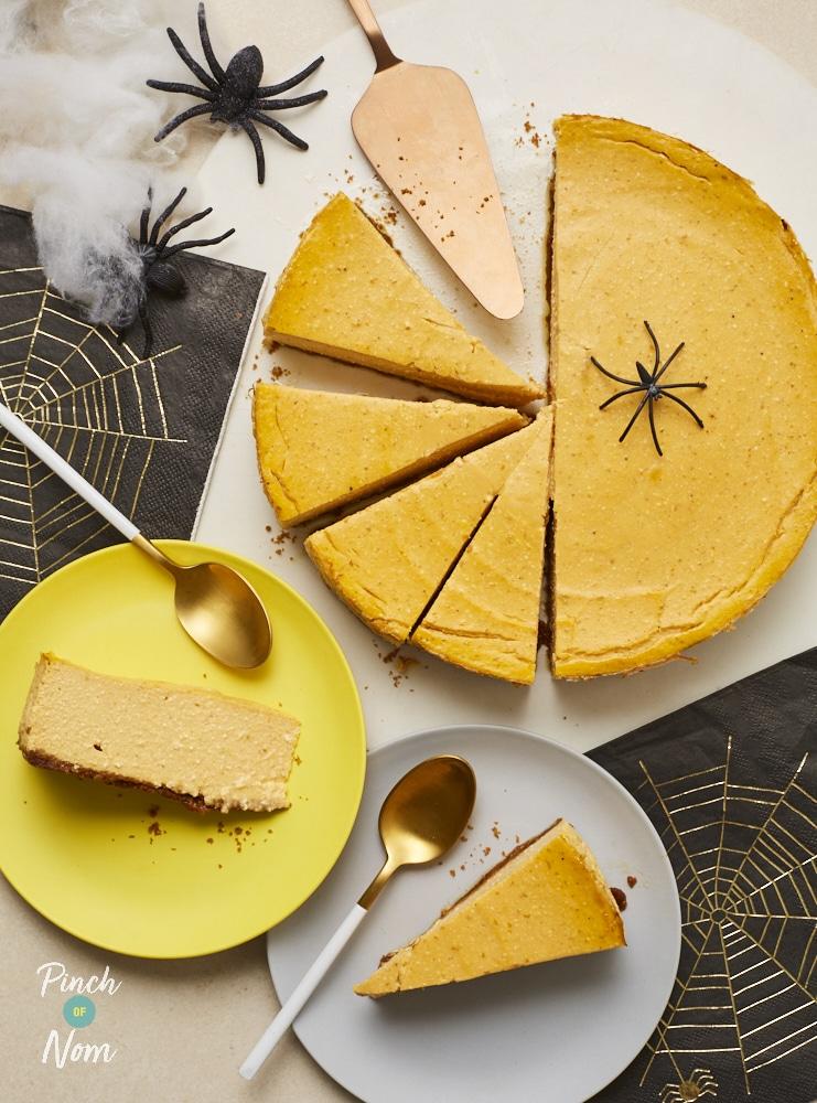 Baked Pumpkin Cheesecake - Pinch of Nom Slimming Recipes