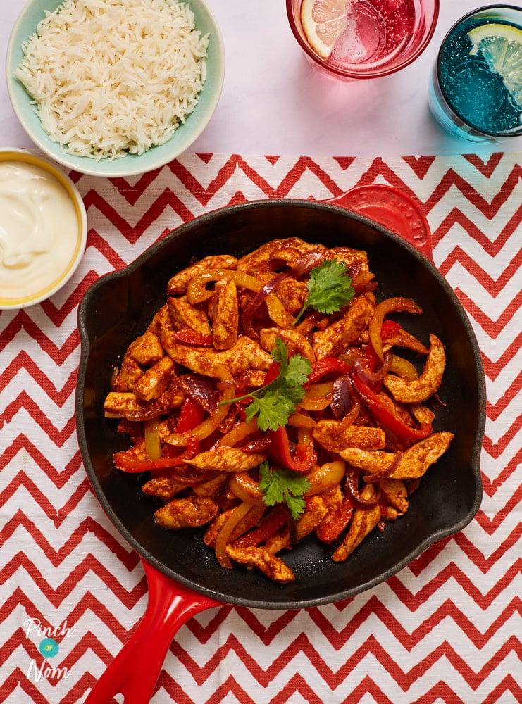 Chicken Fajitas - Pinch of Nom Slimming Recipes
