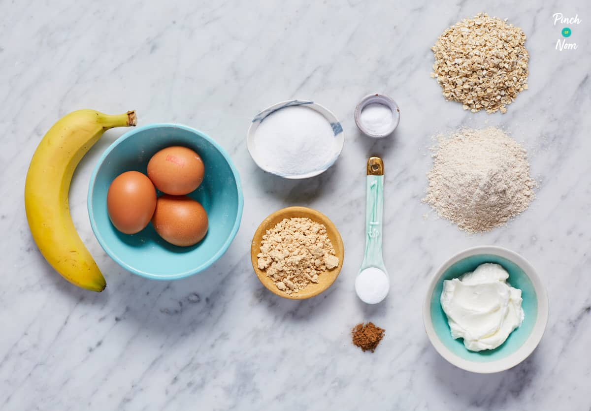 Banana and Peanut Muffins - Pinch of Nom Slimming Recipes