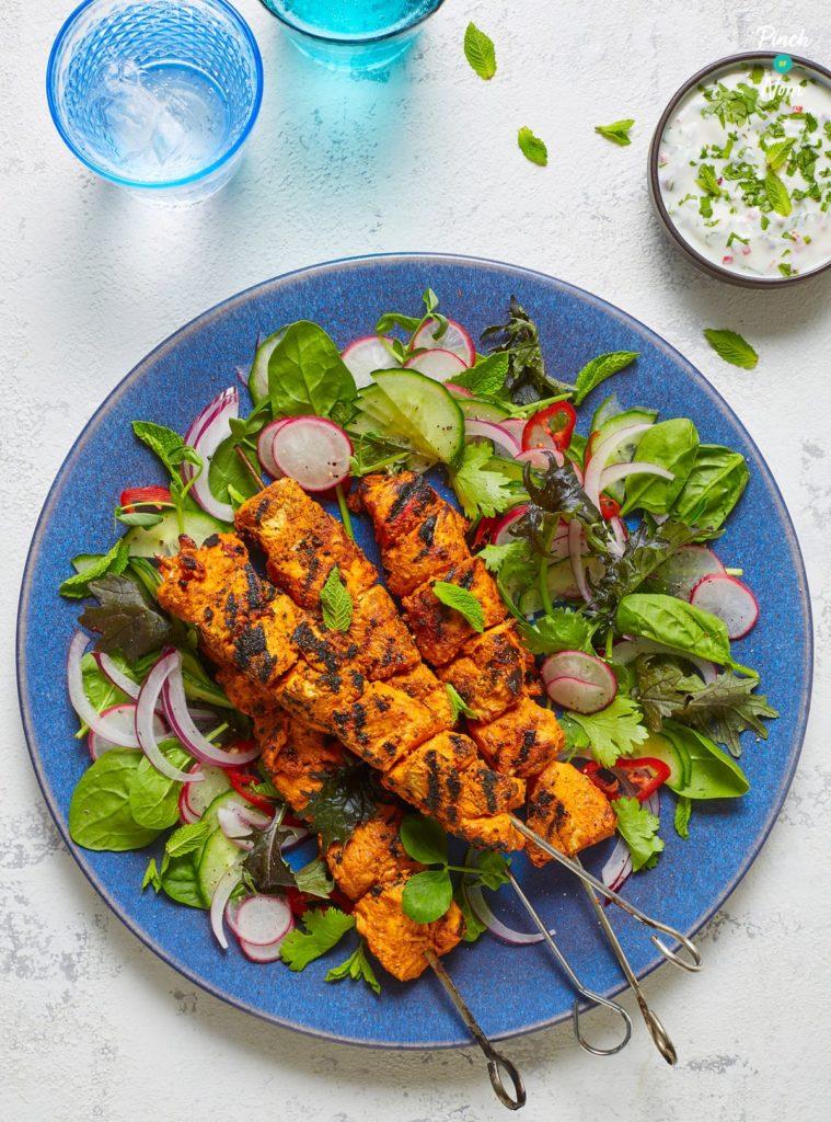 Chicken Tikka Kebabs - Pinch of Nom Slimming Recipes