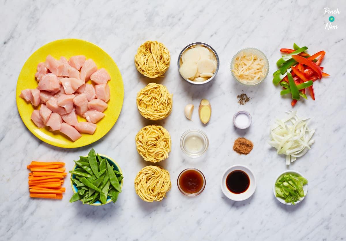 Chicken Chow Mein - Pinch of Nom Slimming Recipes