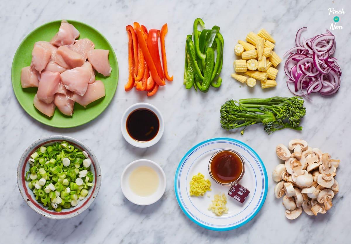 Chicken Mushroom Fakeaway - Pinch of Nom Slimming Recipes